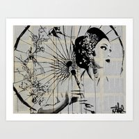 blossom Art Prints featuring Blossom by LouiJoverArt