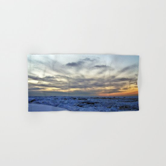 Icy Sea at Sunset Hand & Bath Towel