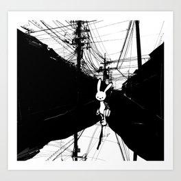 minima - beta bunny / noir Art Print