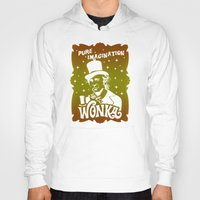 willy wonka Hoodies featuring Gold Ticket by Buby87