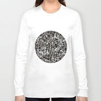 my mad fat diary Long Sleeve T-shirts featuring Diary of My Journey No. 1 by Mystical Garden