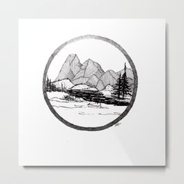 Enjoy the mountains Metal Print