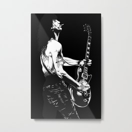 SLASH BW Metal Print