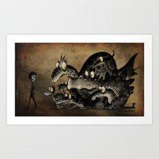 Funny Monsters Art Print
