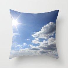 Let the sun shine Throw Pillow
