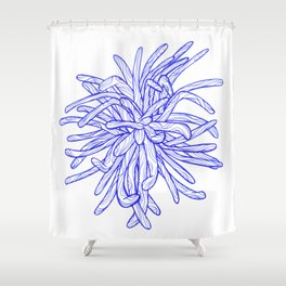 Blue Flower Shower Curtain