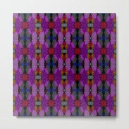 Snowflake III in Purples Metal Print