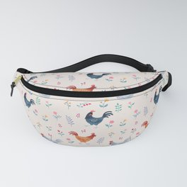 Little Hens (ivory) Fanny Pack