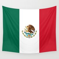 1984 Wall Tapestries featuring The Mexican national flag - Authentic high quality file by Bruce Stanfield