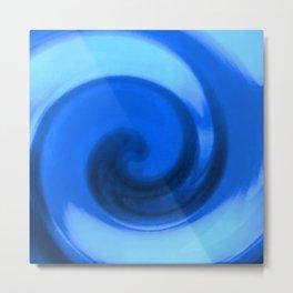 Blue tie dye Metal Print