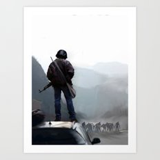 Zombies in the Distance Art Print