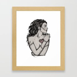 Her Heart Zombie Doll Framed Art Print