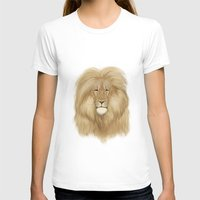 lion king T-shirts featuring king lion by Ewa Pacia