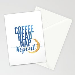 Coffee. Read. Nap. Repeat. Stationery Cards