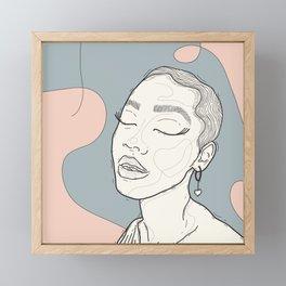 April. Framed Mini Art Print