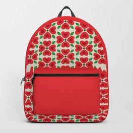 Christmas Heart Flowers Backpack