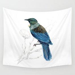 Tui, New Zealand native bird Wall Tapestry