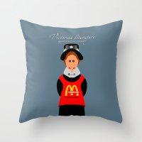 literature Throw Pillows featuring Victorian Literature - Meregith by Natallia Pavaliayeva