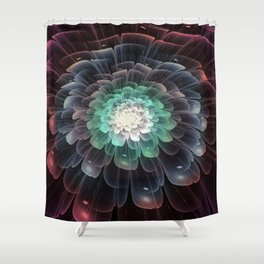 Abstract Flower - Glory of Evil Shower Curtain