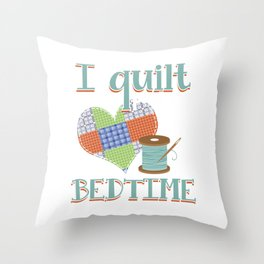 Patchwork Heart Quilting Quilt Crafting Gift Throw Pillow