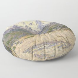The Valley of the Nervia Floor Pillow