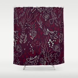 Burgundian winter holiday mood. Shower Curtain