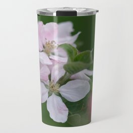 Classic Image Of Apple Tree Blossoms In The Garden In Spring Travel Mug
