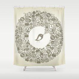 Bird business Shower Curtain