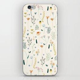Vintage Inspired Wildflower Print iPhone Skin