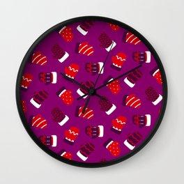 Christmas Mittens! Wall Clock