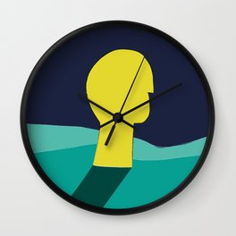 Be in deep water Wall Clock