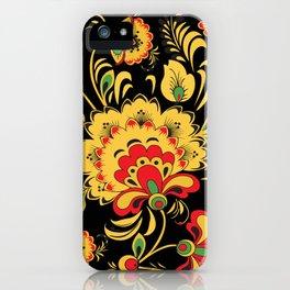 Khokhloma pattern iPhone Case