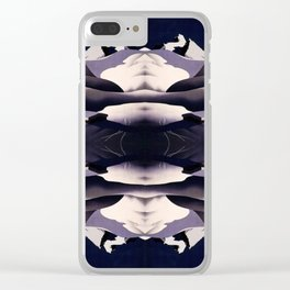 Vintage travel poster pattern Clear iPhone Case