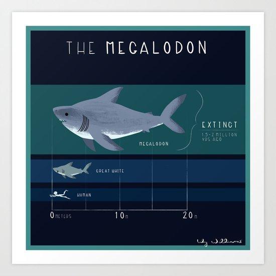 The Megalodon Art Print