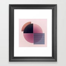 Round and lines Framed Art Print