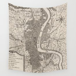 Vintage Map of London England (1764) Wall Tapestry