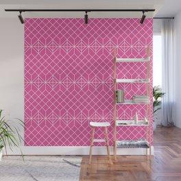 Pink geometric pattern Wall Mural