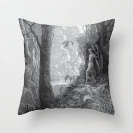 Gustave Dore: Paradise Lost XV Throw Pillow