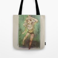 cyarin Tote Bags featuring Greens by Cyarin