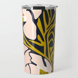 Backyard flower – modern floral illustration Travel Mug