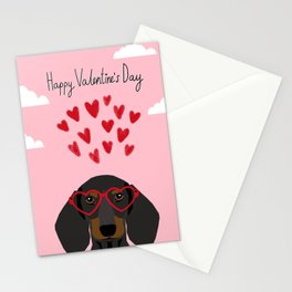 Dachshund dog breed pet art valentines day doxie must haves Stationery Cards