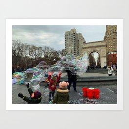 Bubbles in Manhattan Art Print