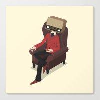 radiohead Canvas Prints featuring Radiohead by Anthony Massingham