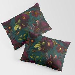 Before Midnight Vintage Flowers Garden Pillow Sham