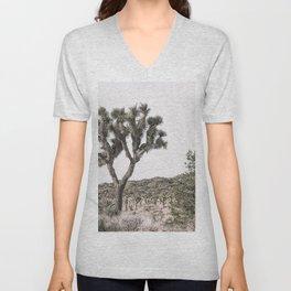 Joshua Tree, Desert Wall Art, Boho Wall Art Unisex V-Neck