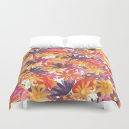 Sunset Flower Duvet Cover