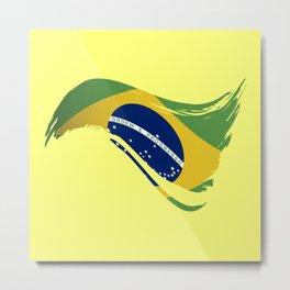 The Flag of Brazil I Metal Print