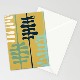 Abstract jungle - mustard Stationery Cards