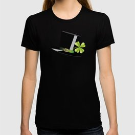 Hat with shamrock T-shirt