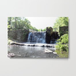 Waterfall at Keen Lake Metal Print
